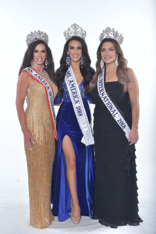 Ms. America International 2018 - Kimberly Jones, Ms. America 2018 - Brittany Wagner, Ms. International 2018 - Jolyn Farb