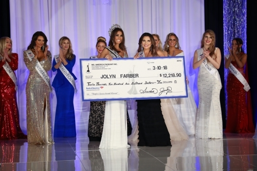 Ms. International 2018-19 - Jolyn Farber also won the Peoples Choice award and won $12,218.90 CASH!