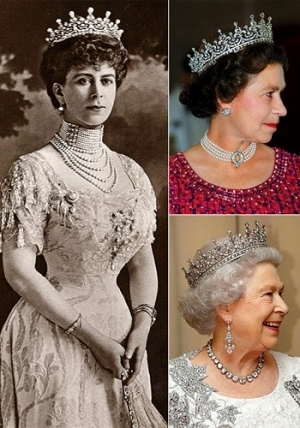 Historical times line of Queen Elizabeth crown